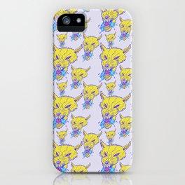 Neon Wolf Pattern iPhone Case