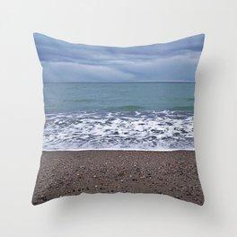 Foam on the Beach Throw Pillow