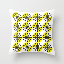 Geometric Pattern #142 (Yellow dandylion) Throw Pillow