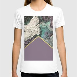 Marbled Purple Butterfly Gold T-shirt