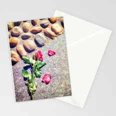 Trampled down rose Stationery Cards