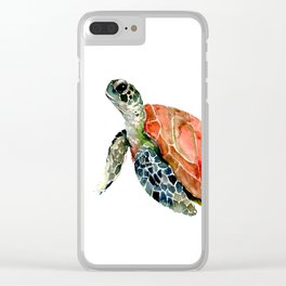 Sea Turtle, turtle art, turtle design Clear iPhone Case