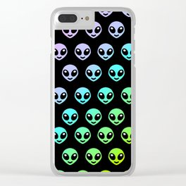 Alien smiley Clear iPhone Case