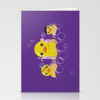 bathroom Stationery Cards featuring DANGERS OF THE BATHROOM by ketizoloto
