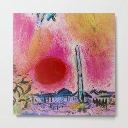Paris, Place de la Concorde landscape painting by Marc Chagall Metal Print