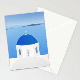 Blue Dome Church, Oia, Santorini, Greece Stationery Cards