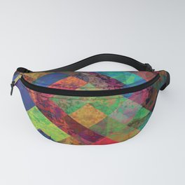 Abstract Colorful Checkered Hippy Design Fanny Pack