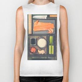 Traditional sushi ingredients Biker Tank
