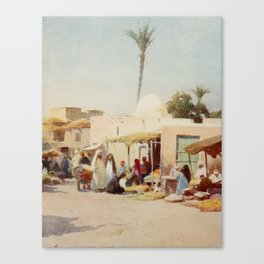Kelly, Robert Talbot (1861-1934) - Egypt 1903, A corner in the market-place Canvas Print
