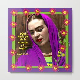 REBOZO PURPLE Metal Print