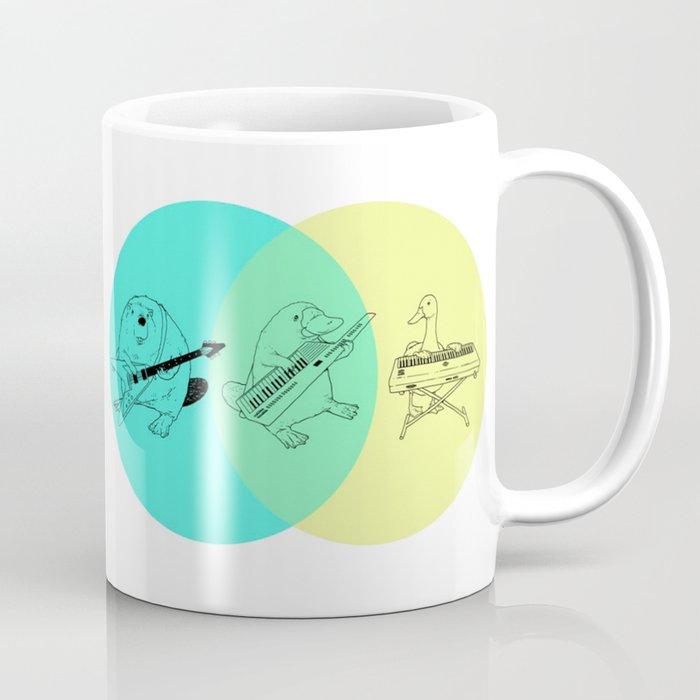 Keytar Platypus Venn Diagram Coffee Mug