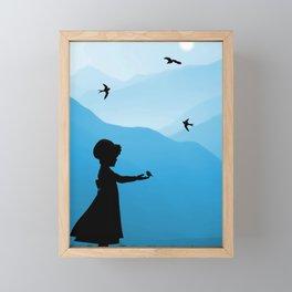 Feed The Birds Framed Mini Art Print
