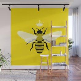 Queen Bee Yellow Wall Mural