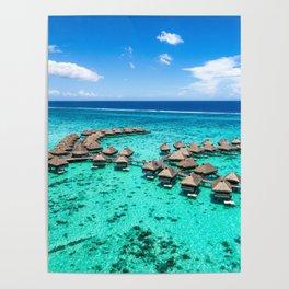 Tahiti paradise honeymoon vacation destination Poster