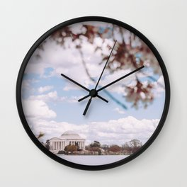 Washington DC Cherry Blossoms - Thomas Jefferson Memorial II Wall Clock
