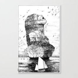asc 757 - La nostalgie est une île (The remains) Canvas Print