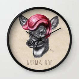 Norma Doe Wall Clock