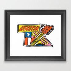 Austin TX Framed Art Print