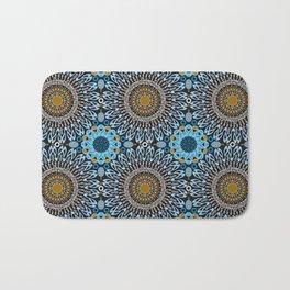 Calligraphic Boho (Blue) Bath Mat