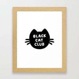 Black Cat Club Framed Art Print