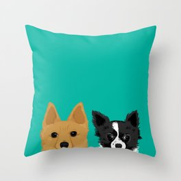 Pippen & Sooty - Teal Throw Pillow