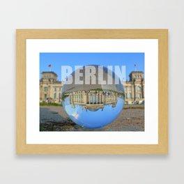 BERLIN Reichstag / Glass Ball Photography Framed Art Print
