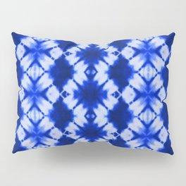 indigo shibori print Pillow Sham