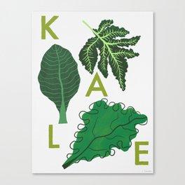 Eat Your Veggies - Kale Canvas Print