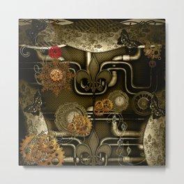 Wonderful noble steampunk design Metal Print