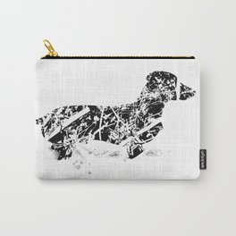 Dachshund in the snow Carry-All Pouch