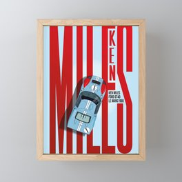 Ken Miles Tribute Framed Mini Art Print