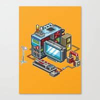 8bit Canvas Prints featuring 8bit computer by Sergey Kostik