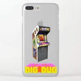 Dig Dug Machine Clear iPhone Case
