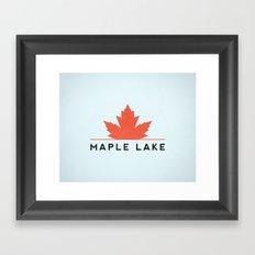 Maple Lake Framed Art Print