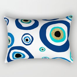 Evil eye nazar نظر amulet design Rectangular Pillow