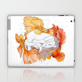 Cat and Golden Fishes Laptop & iPad Skin