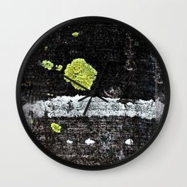 Lichens on a Tree Bark Wall Clock