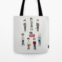 youtube Tote Bags featuring Youtube Boys  by Natasha Ramon