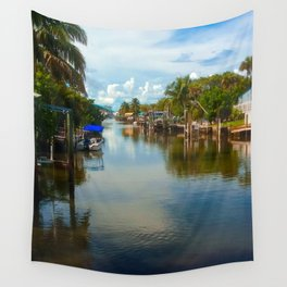 Peaceful Relection Wall Tapestry