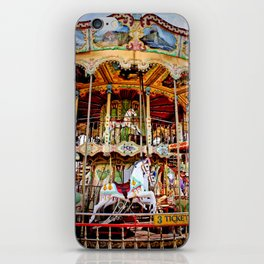 Double Decker Carnival Carousel Horse iPhone Skin