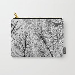 Monochrome Snow Trees Carry-All Pouch