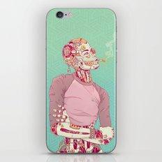 Nostalgic Lady iPhone Skin