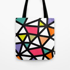 White lines & colors pattern #2 Tote Bag