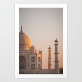 Taj Mahal At Sunset Art Print