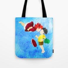 Ponyo and Sosuke Tote Bag