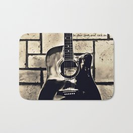 Be Your Song and Rock On in Black Bath Mat