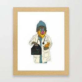 MONKEY WORKER CLOSEUP (1 of 2) Framed Art Print