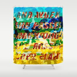 Girl from the Beach – Decollage 2 – A Hell Songbook Edition Shower Curtain