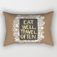 Eat Well, Travel Often (on Kraft) Rectangular Pillow