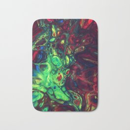 Abstract with green dominant Bath Mat